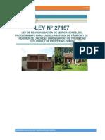 LEY 27157