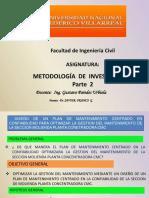Metodología de Investigación- PARTE II