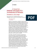 Interview With Daniel Solis_ Betamax and Super-8 in Revolutionary El Salvador by Julia Lesage