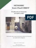 Memoire de Jean Paul EBRUY