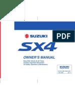 Suzuki Sx4 Sx4 Sedan Owners Manual 121535