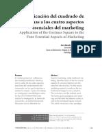 Aplicación Del Cuadrado de Greismas a Los Cuatro Aspectos Esenciales Del Marketing JParís