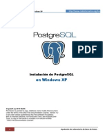 Instalacion de PostgreSQL-Windows
