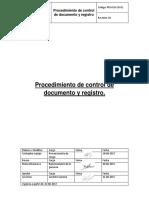 Procedimiento de Control de Documento y Registro
