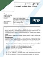 NBR 14891 - Sinalizacao Vertical Viaria - Placas