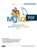 Usuarios en MySQL Parte1