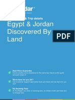 Egypt Jordan Discovered by Land 2354 Usd