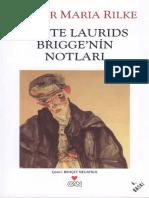 Rainer Maria Rilke -Malte Laurids Brigge_nin Notları