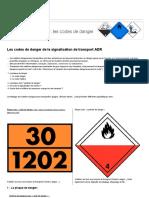 Les Codes de Danger de La Signalisation de Transport ADR _ _ Seton FR