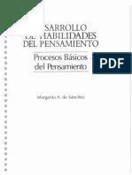 Desarrollo de Habilidades Del Pensamiento (Margarita de Sanchez)