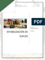 Estabilización Del Suelo (Trabajo)