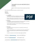 Criterios de Evaluación y Falacias Argumentativas