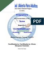 Educacion Para La Paz Reporte i