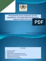 13 Foros participativos