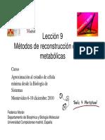Metodos Reconstruccion Redes Metabolicas