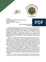 Ministerio Ambiente, 222, Carta Presidencial Eliminación