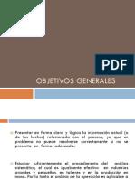 Objetivos Generales, Especificos y Marco Teorico