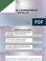 control y eliminacion de SOx