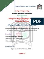 Design of Heat Exchanger...
