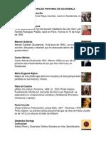 Pricipales Pintores de Guatemala y Obras Esculturales
