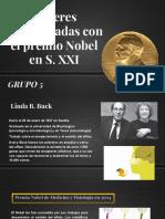 PRESENTACIÓN-Mujeres Galardonadas Con El Premio Nobel en S. XXI
