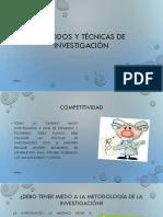 Métodos y Técnicas de Investigación Capítulo 1