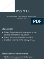 history of ell ppt