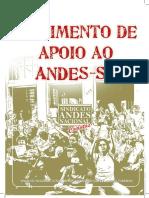 Movimento de Apoio Ao ANDES-SN. Brasília, ANDES-SN, Nov. 2008