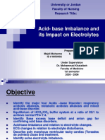Acid- Base Imbalance and Its Impact on Electrolytes