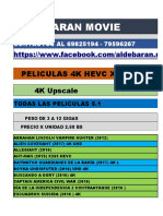 Pack 4k (b) Octubre 2017 - Aldebaran Movie