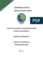 Silabo Prog Web i 2017-1