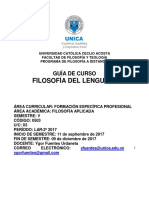 Guía de Curso Filosofía Del Lenguaje LAR 2-2017
