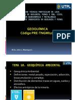 Geoquímica Tema 10_Geoquímica Ambiental_Prof John Manrique