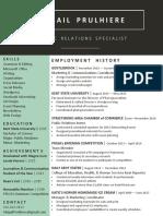 Prulhiere Resume