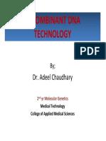 19046_Lect Recombinant DNA Tech_Molecular Genetics Lect 2nd Yr MT-1st Semester