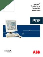 WBPEEUI220793D0 en Operate IT - Process Portal Version B2.0 - Installation
