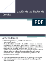 Desmaterialización de Los Títulos de Crédito (1)