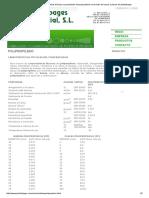 Tablas Con Las Caraterísticas Técnicas y Propiedades Del Polpropileno en Formato de Barras y Placas de Plasticbages