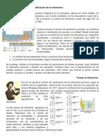 Compuestos del oxigeno y clasificación de los elementos.
