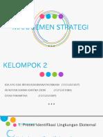 Manajemen Strategis analisi lingkungan internal dan eksternal