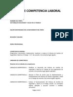 Perfil de Competencia Laboral Sg Sst