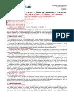 Documento para formatação de trabalhos em formato de artigo