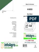 Instrucciones Fotometro Analisis Nutrientes Agricultura Hi83225