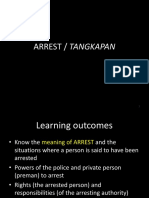 Criminal Procedure - ARREST