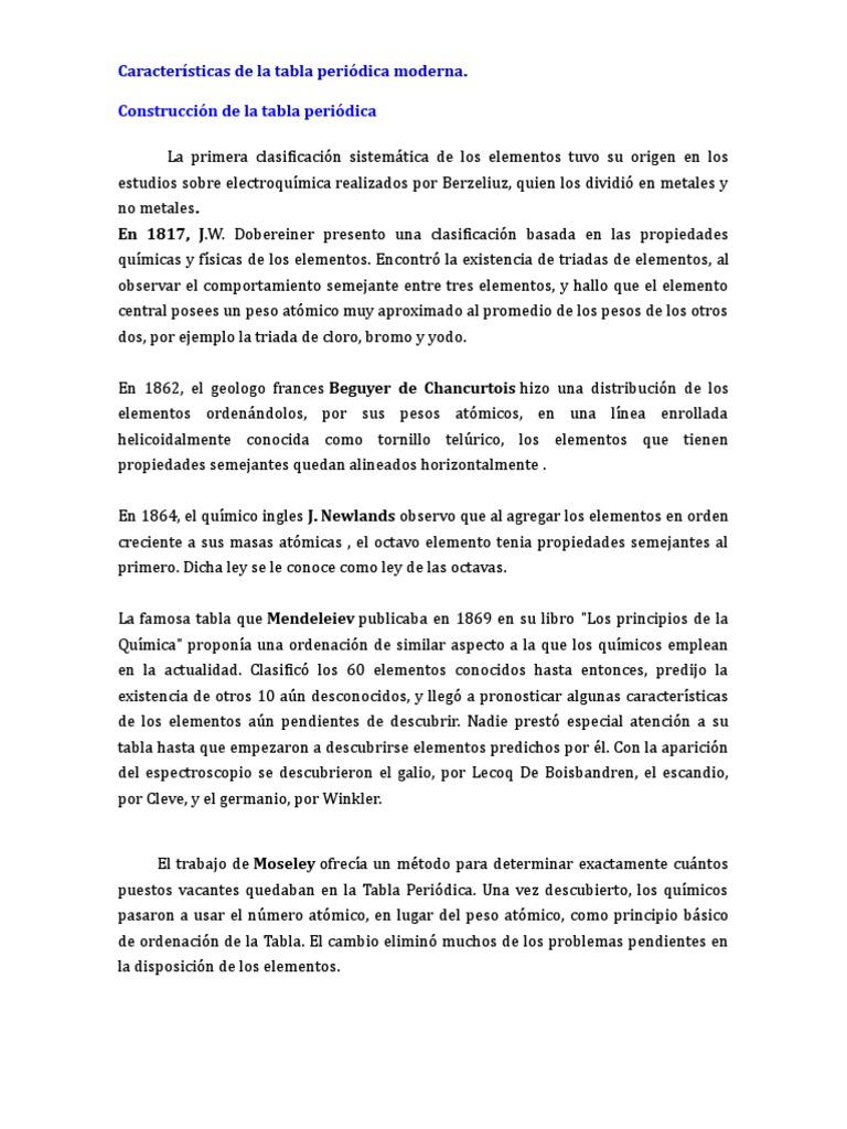 Clasificacion periodica moderna de elementos clasificacion periodica moderna de elementos urtaz Choice Image