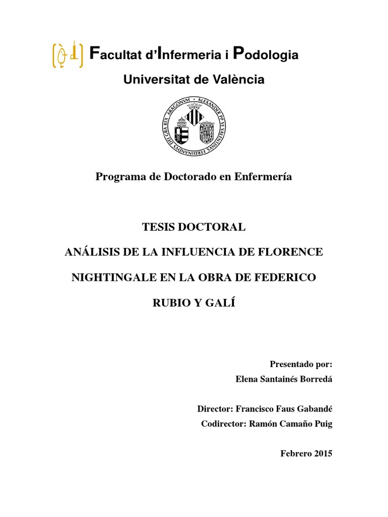 TESIS DOCTORAL ANÁLISIS DE LA INFLUENCIA DE FLORENCE NIGHTINGALE EN ...