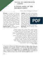 Funçao social do HISTORIADOR