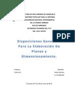 Disposiciones Generales Para La Elaboración de Planos