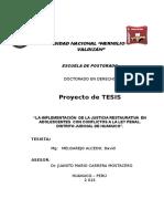 Proyecto de Tesis de Justicia Restaurativa- Doctorado 1 Dma