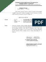 Surat Tugas Sekda (Luar Kabupaten)